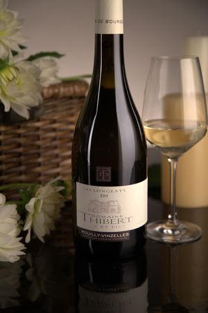 French White Burgundy Wine, Domaine Thibert Père et Fils 2011 Pouilly-Vinzelles Les Longeays