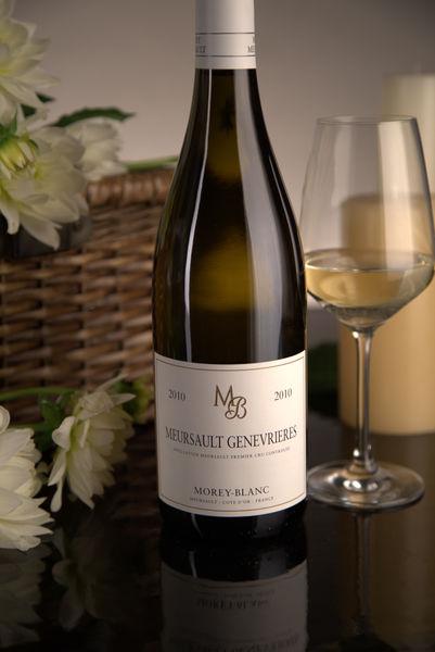 French White Burgundy Wine, Maison Morey-Blanc 2010 Meursault Premier Cru Genevrieres