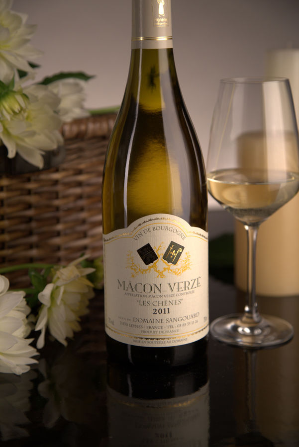 French White Burgundy Wine, Domaine Sangouard 2011 Mâcon-Verzé Les Chenes
