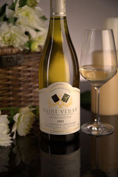 French White Burgundy Wine, Domaine Sangouard 2011 Saint-Véran Les Rochettes