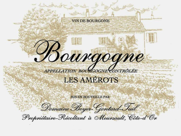 French Red Burgundy Wine, Domaine Boyer-Gontard 2011 Bourgogne Les Amerots
