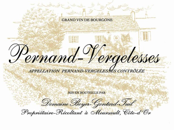 French White Burgundy Wine, Domaine Boyer-Gontard 2012 Pernand-Vergelesses En Caradeux