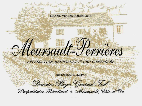 French White Burgundy Wine, Domaine Boyer-Gontard 2012 Meursault Premier Cru Perrieres