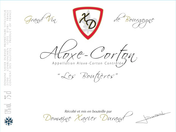 French Red Burgundy Wine, Domaine Xavier Durand 2011 Aloxe-Corton Les Boutières