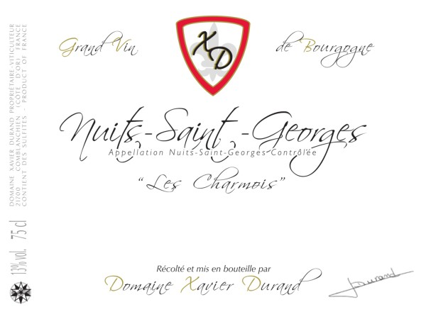 French Red Burgundy Wine, Domaine Xavier Durand 2012 Nuits-Saint-Georges Les Charmois