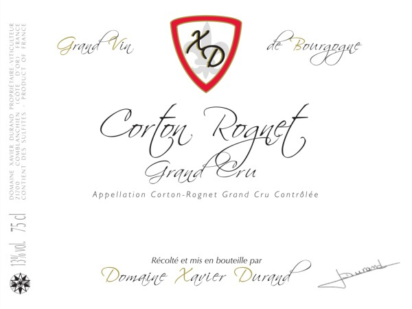 French Red Burgundy Wine, Domaine Xavier Durand 2010 Corton Rognet