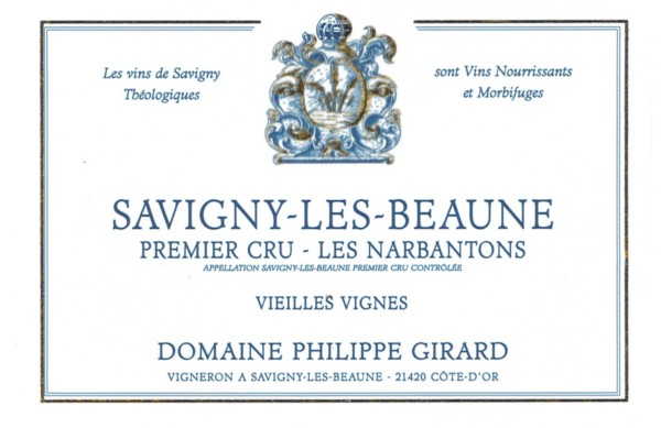 French Red Burgundy Wine, Domaine Philippe Girard 2011 Savigny-les-Beaune Premier Cru Les Narbantons