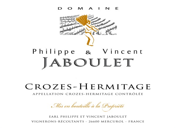 French Red Rhone Wine, Domaine Philippe & Vincent Jaboulet 2009 Crozes-Hermitage