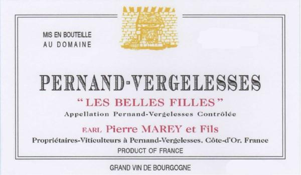 French Red Burgundy Wine, Domaine Pierre Marey et Fils 2011 Pernand-Vergelesses Les Belles Filles