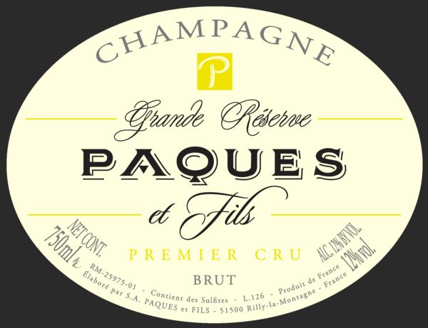 French Champagne, Champagne Paques et Fils Champagne Grande Réserve