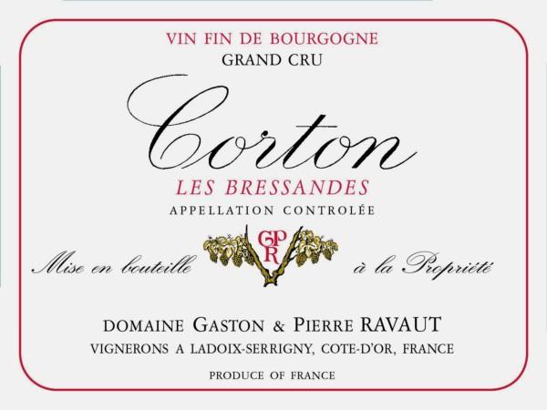 French Red Burgundy Wine, Domaine Gaston & Pierre Ravaut 2010 Corton Bressandes