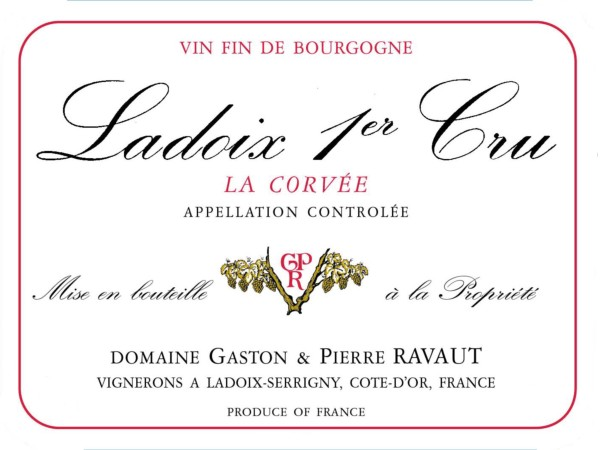 French Red Burgundy Wine, Domaine Gaston & Pierre Ravaut 2010 Ladoix Premier Cru La Corvée