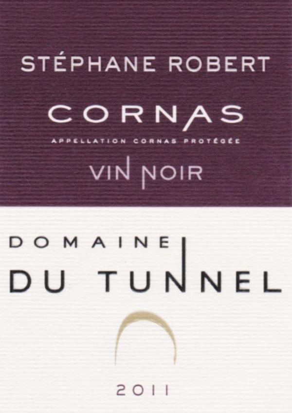 French Red Rhone Wine, Domaine du Tunnel 2011 Cornas Vin Noir