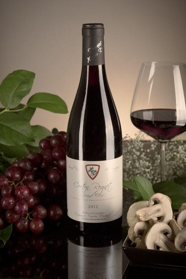 French Red Burgundy Wine, Domaine Xavier Durand 2012 Corton Rognet
