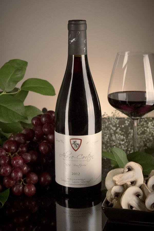 French Red Burgundy Wine, Domaine Xavier Durand 2012 Aloxe-Corton Les Boutières