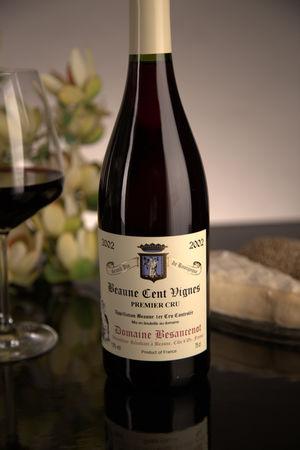 French Red Burgundy Wine, Domaine Besancenot 2002 Beaune Premier Cru Cent Vignes