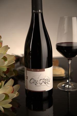 French Red Rhone Wine, Domaine François Merlin 2010 Côte-Rôtie