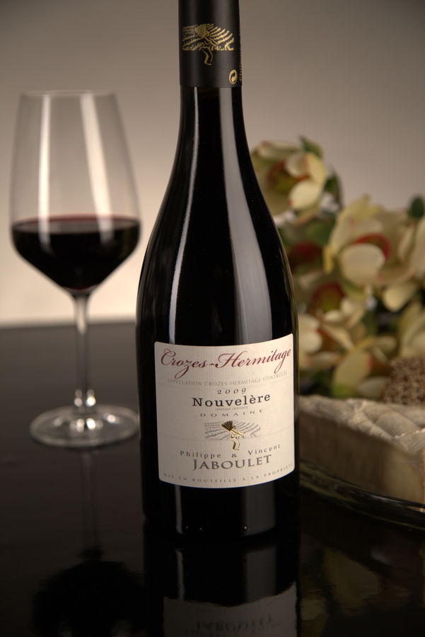 French Red Rhone Wine, Domaine Philippe & Vincent Jaboulet 2009 Crozes-Hermitage Nouvelère