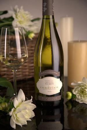 French White Rhone Wine, Domaine Christophe Pichon 2010 Condrieu